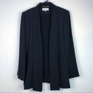 Calvin Klein Black Open Blazer Cardigan Plus Size
